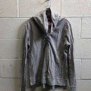 Lululemon gray & pink reversible cowl neck top sz6